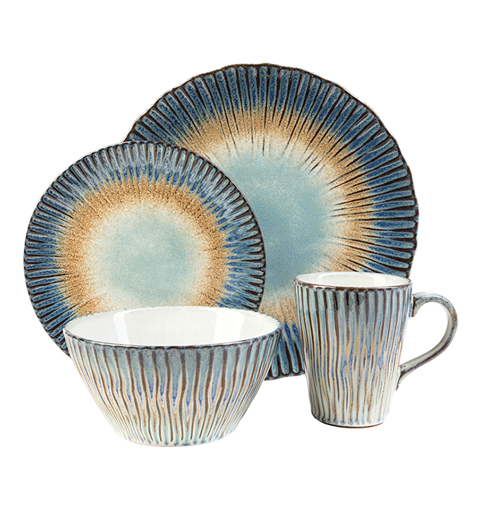 Portura Sunrise 16 Piece Dinnerware Set