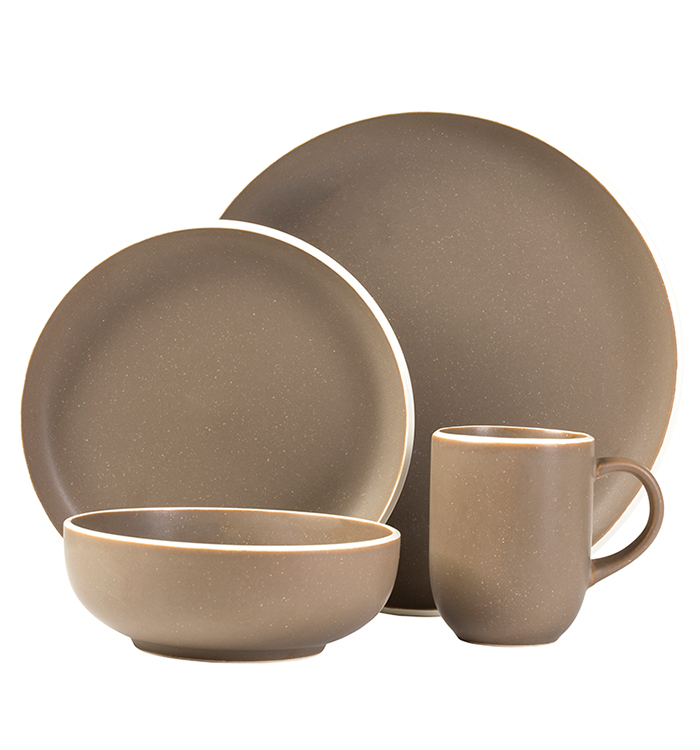 Tailor Suede 16 Piece Dinnerware Set